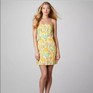 LILLY PULITZER dress size 12 Daffies yellow green